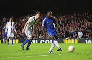 Picture by Alex Broadway/Focus Images Ltd +44 7905 628183.02/05/2013.Victor Moses of Chelsea scores his side's second goal against FC Basel during the UEFA Europa League match at Stamford Bridge, London.