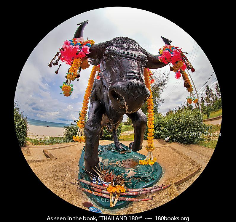 Bull Statue on Thung Wua Laen Beach, Chumphon, Thailand