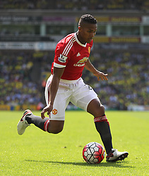 Luis Antonio Valencia of Manchester United in action - Mandatory by-line: Jack Phillips/JMP - 07/05/2016 - FOOTBALL - Carrow Road - Norwich, England - Norwich City v Manchester United - Barclays Premier League