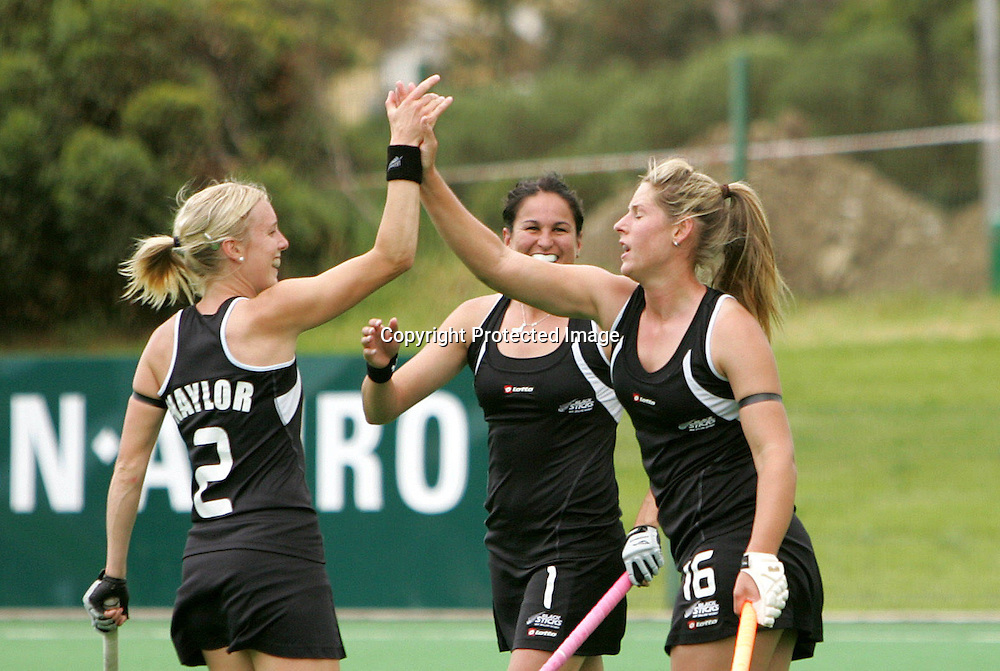 Clarissa ESHUIS celebrates her goal during the BDO Women's Champions Challenge 1 match between New Zealand and Spain held at the Hartleyvale Stadium in Cape Town, South Africa on the 12 October 2009 ..Photo by RG/www.sportzpics.net.+27 21 (0) 21 785 6814