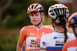 Amalie Dideriksen surprises herself with the sprint win at the 103 km Stage 1 of the Boels Ladies Tour 2016 on 30th August 2016 in Tiel, Netherlands. (Photo by Sean Robinson/Velofocus).