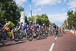 Coryn Rivera (USA) of Team Sunweb corners during the Prudential RideLondon Classique - a 64.8 km road race, starting and finishing in central London on July 28, 2018, in London, United Kingdom. (Photo by Balint Hamvas/Velofocus.com)