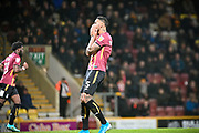 Ben Richard-Everton of Bradford City after missing a good chance to score during the EFL Sky Bet League 2 match between Bradford City and Port Vale at the Utilita Energy Stadium, Bradford, England on 22 October 2019.