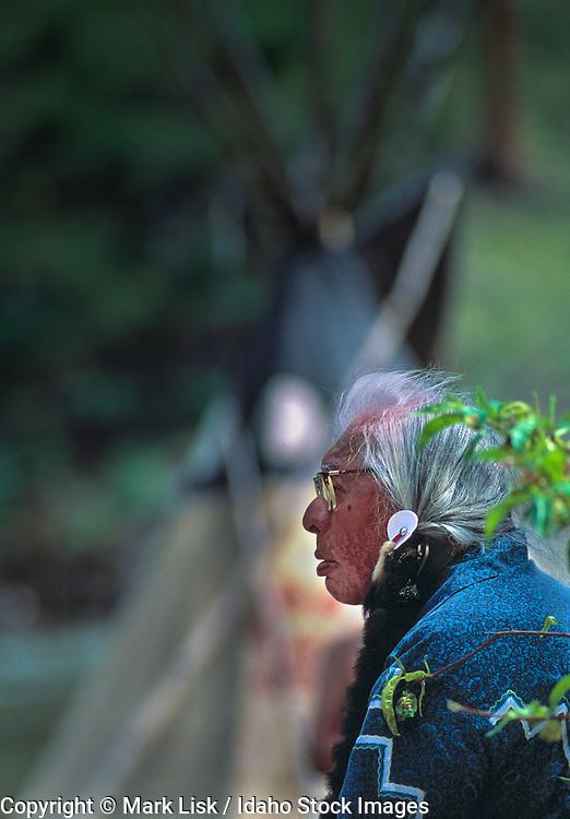 (MR) Nez Perce elder. Horace Axtell