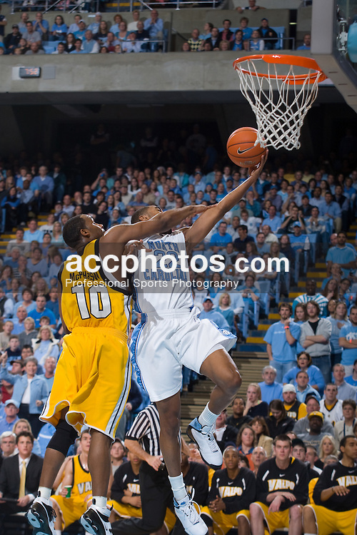 30 December 2007: North Carolina Tar Heels guard Wayne Ellington (22) during a 114-62 win over the Valparaiso Crusaders at the Dean Smith Center in Chapel Hill, NC.