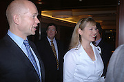 William and Ffion Hague. 'Dirty politics, Dirty times: My fight with Wapping and New Labour' by Michael Ashcroft. Book launch party in aid of Crimestoppers. Riverbank Plaza Hotel. London SE1.      October 10 2005. ONE TIME USE ONLY - DO NOT ARCHIVE © Copyright Photograph by Dafydd Jones 66 Stockwell Park Rd. London SW9 0DA Tel 020 7733 0108 www.dafjones.com