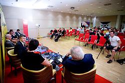 """Franci Plibersek na okrogli mizi na temo """"Kolajna - kljuc do blagovne znamke?"""" v organizaciji SportForum Slovenija, 24. september 2009, Austria Trend Hotel, Ljubljana, Slovenija. (Photo by Vid Ponikvar / Sportida)"""