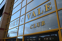 The reception area before Port Vale's and Coventry City's match at Vale Park