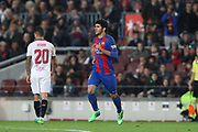 CARLES ALENA of FC Barcelona comes on as substitute during the Spanish championship Liga football match between FC Barcelona and Sevilla FC on April 5, 2017 at Camp Nou stadium in Barcelona, Spain. <br /> Photo Manuel Blondeau / AOP Press / ProSportsImages / DPPI