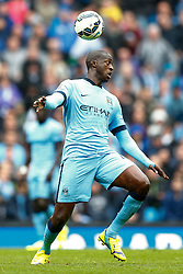Yaya Toure of Manchester City in action - Photo mandatory by-line: Rogan Thomson/JMP - 07966 386802 - 30/08/2014 - SPORT - FOOTBALL - Manchester, England - Etihad Stadium - Manchester City v Stoke City - Barclays Premier League.