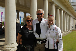 Max-Theurer, Sissy;<br /> Wittig, Wolfram;<br /> Max-Theurer, Victoria, <br /> London - Olympische Spiele 2012<br /> <br /> Dressur Grand Prix de Dressage<br /> © www.sportfotos-lafrentz.de/Stefan Lafrentz