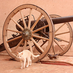 1882 dated breech loading German Krupp artillery piece. Captured during World War 1, Ouarzazate, Morocco