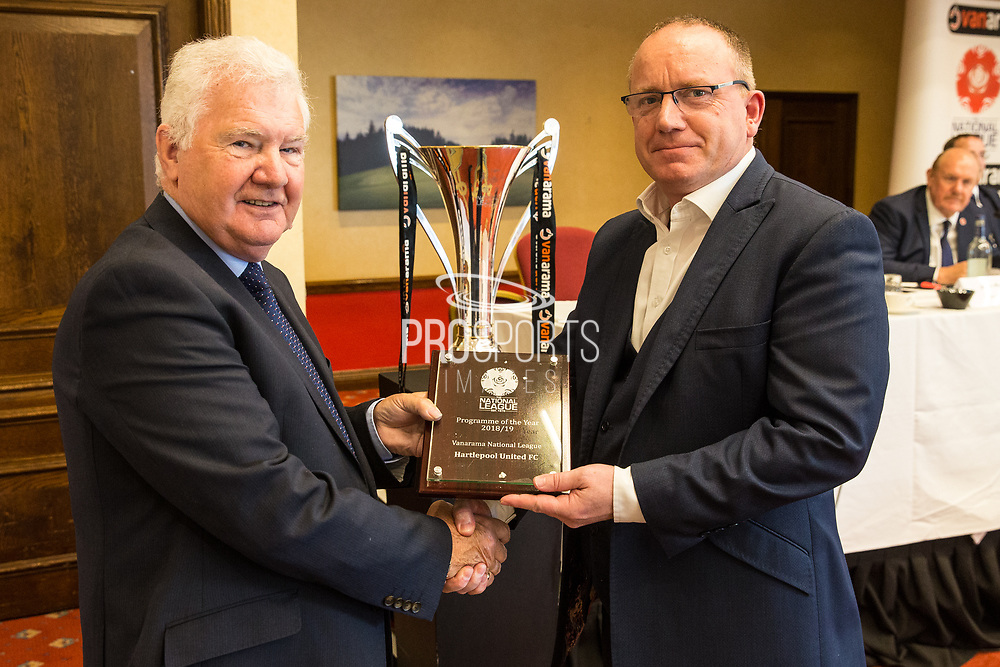 Programme of the Year, NL Hartlepool United during the National League Gala Awards at Celtic Manor Resort, Newport, United Kingdom on 8 June 2019.