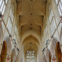 Fan Vault Inside of Bath Abbey in Bath, England<br />
