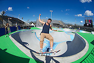 Rune Glifberg during Skate Park Practice at the 2013 X Games Foz do Iguacu in Foz do Iguaçu, Brazil. ©Brett Wilhelm/ESPN