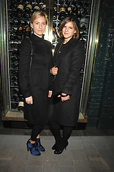 Left to right, sisters MICKEY SUMNER and KATE SUMNER at a party to launch the Dom Perignon OEotheque 1995 held at The Landau, Portland Place, London W1 on 26th February 2008.<br />