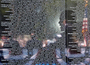 28.MAY.2012. WASHINGTON D.C.<br /> <br /> PRESIDENT BARACK OBAMA IS REFLECTED IN THE VIETNAM VETERANS MEMORIAL WALL AS HE DELIVERS REMARKS DURING THE 50TH ANNIVERSARY OF THE VIETNAM WAR COMMEMORATION CEREMONY IN WASHINGTON, D.C., MAY 28, 2012.  <br /> <br /> BYLINE: EDBIMAGEARCHIVE.CO.UK<br /> <br /> *THIS IMAGE IS STRICTLY FOR UK NEWSPAPERS AND MAGAZINES ONLY*<br /> *FOR WORLD WIDE SALES AND WEB USE PLEASE CONTACT EDBIMAGEARCHIVE - 0208 954 5968*