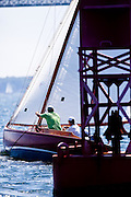 Lady Luck, S Class, sailing in the Robert H. Tiedemann Classic Yachting Weekend race 1.