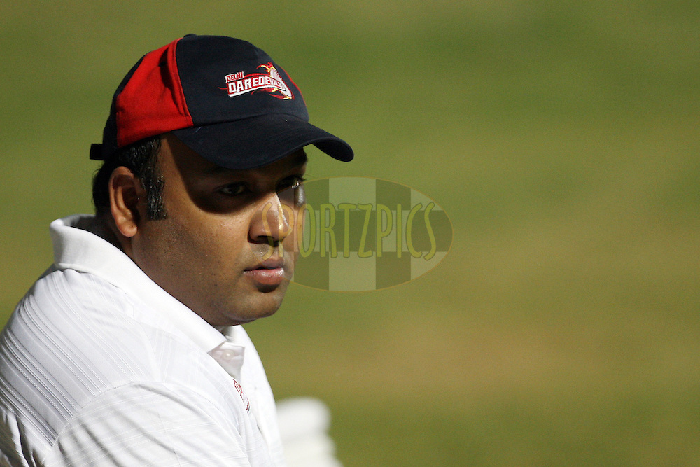 Co-owner of the Delhi Daredevils Kiran Grandhi during the practice session of the Delhi Daredevils held at the MA Chidambaram Stadium in Chennai, Tamil Nadu, India on 24 May 2012...Photo by Jacques Rossouw/BCCI/SPORTZPICS .