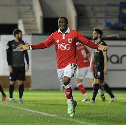 Bristol City's Kieran Agard celebrates his goal. - Photo mandatory by-line: Dougie Allward/JMP - Mobile: 07966 386802 - 17/02/2015 - SPORT - Football - Bristol - Ashton Gate - Bristol City v Peterborough United - Sky Bet League One