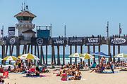 Summer the Beach at Huntington Beach Pier