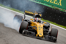 November 11, 2017 - Sao Paulo, Brazil - 27 NICO HULKENBERG, of Renault Sport F1, drives during the free training for the Formula One Grand Prix of Brazil at Interlagos circuit, in Sao Paulo, Brazil. The grand prix will be celebrated next Sunday, November 12. (Credit Image: © Paulo Lopes via ZUMA Wire)