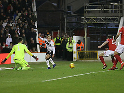 January 19, 2019 - Nottingham, England, United Kingdom - NOTTINGHAM, UK 19 JANUARY 2019. Andreas Weimann of Bristol City squares the ball to set up Famara Diedhiou of Bristol City for the only goal of the game during the Sky Bet Championship match between Nottingham Forest and Bristol City at the City Ground, Nottingham on Saturday 19th January 2019. (Credit Image: © Mark Fletcher/NurPhoto via ZUMA Press)