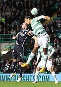 Dundee's James McPake and Celtic's Virgil van Dijk -  Celtic v Dundee - SPFL Premiership at Celtic Park<br /> <br /> <br />  - © David Young - www.davidyoungphoto.co.uk - email: davidyoungphoto@gmail.com