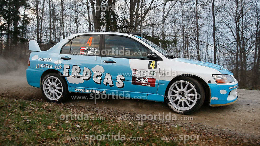 23.03.2012, Poessnitz, Leutschach, AUT, Rallyemeisterschaft, Rebenland-Rallye, im Bild Manfred Stohl (AUT) und Cop-Pilotin Ilka Minor (AUT) vom Nichts leichter als Erdgas Team auf Mitsubishi EVO IX // during the 'Rebenland Rallye 2012', Poessnitz, Leutschach, Austria, 2012-03-23, EXPA Pictures © 2012, PhotoCredit: EXPA/ Erwin Scheriau