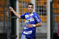 FOOTBALL - FRENCH CHAMPIONSHIP 2011/2012 - ES TROYES v CS SEDAN  - 20/09/2011 - PHOTO JEAN MARIE HERVIO / DPPI - JOY RAPHAEL CACERES (ESTAC) AFTER HIS GOAL