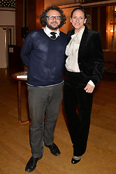 Media figure JAMES BROWN and LISA BAKER at a party to celebrate the publication of  'I Used to be in Pictures' an untold story of Hollywood by Austin Mutti-Mewse and Howard Mutti-Mewse held at The Lansdowne Club, London on 6th March 2014.