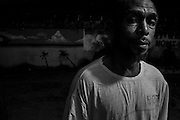 Zanzibar Town, Zanzibar -   2015-03-25  - Ex-dealer Seif stands outside the Trent Sober House for men in Zanzibar Town, Zanzibar on March 25, 2015.  Photo by Daniel Hayduk