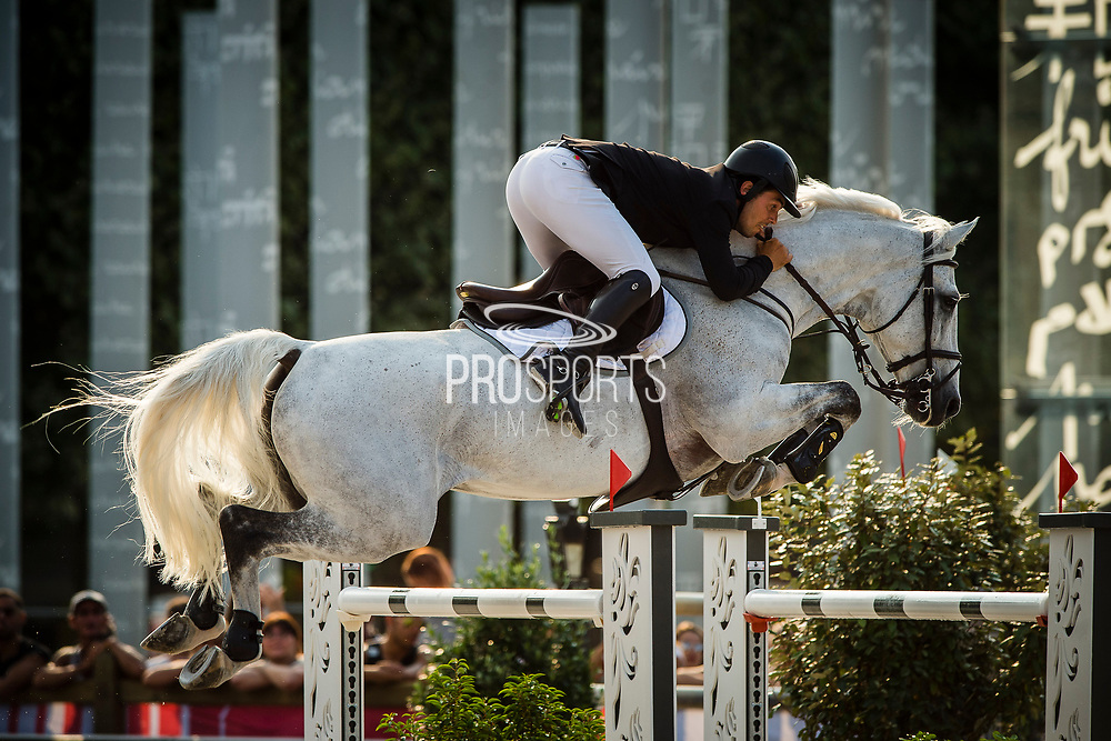 Paris, France : Sergio Alvarez Moya riding Carlo during the Longines Paris Eiffel Jumping 2018, on July 5th to 7th, 2018 at the Champ de Mars in Paris, France - Photo Christophe Bricot / ProSportsImages / DPPI