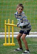 Cricket Fan bats, at the National Bank's Cricket Super Camp , University oval, Dunedin, New Zealand. Thursday 2 February 2012 . Photo: Richard Hood photosport.co.nz
