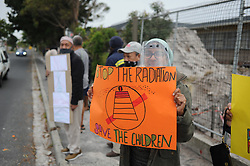 South Africa - Cape Town - 14 September 2020  - Concerned residents of Crawford and surrounds held a peaceful placard demonstration at Thornton Road Primary School to highlight their objection to the continued construction of a cellphone tower. They claim they were never consulted about this project and only came to know about it once the construction was apparent. They approached the principal for information, but were referred to the City of Cape Town. Picture: Henk Kruger/African News Agency (ANA)