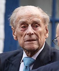© Licensed to London News Pictures. 24/12/2019. London, UK. PRINCE PHILIP, DUKE OF EDINBURGH is seen leaving King Edward VII hospital in London following a short stay. The Duke travelled from Norfolk to the hospital for observation and treatment in relation to a pre-exsisting condition on the same day that Queen Elizabeth II travelled to Sandringham by train for the Christmas holiday. Photo credit: Peter Macdiarmid/LNP