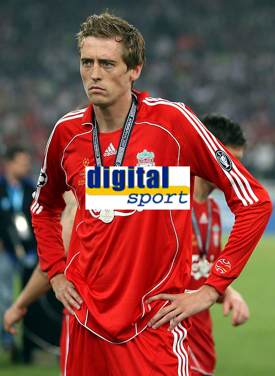 Photo: Paul Thomas.<br /> AC Milan v Liverpool. UEFA Champions League Final. 23/05/2007.<br /> <br /> Dejected Peter Crouch of Liverpool.