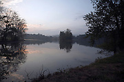 lake during early morning hours France Languedoc