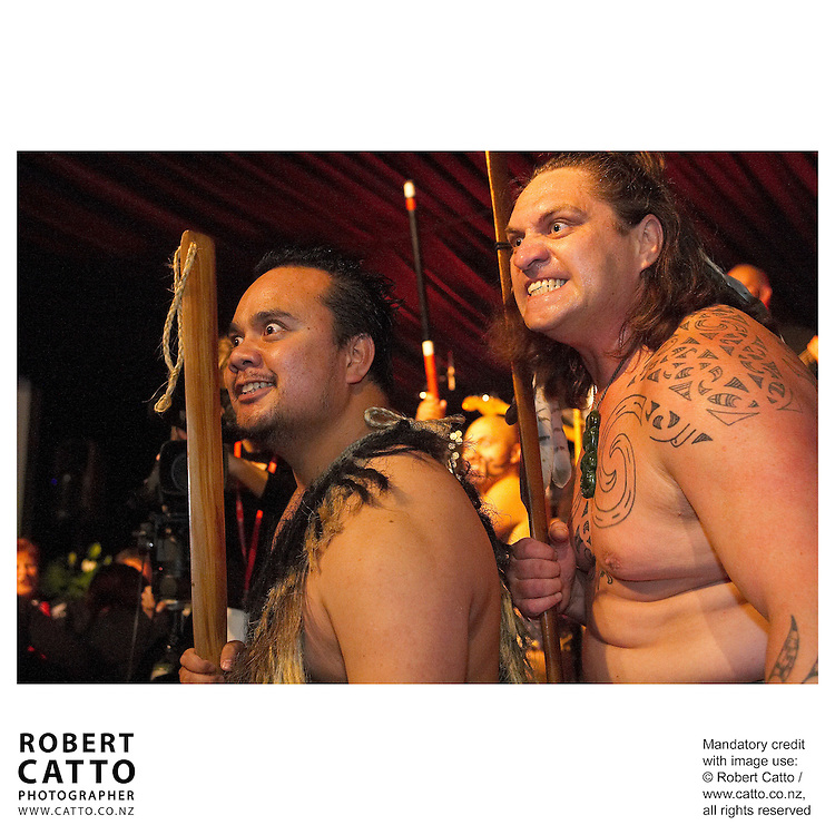 Maori Warriors at the British & Irish Lions v. New Zealand Maori Match at Waikato Stadium, Hamilton, New Zealand.<br />