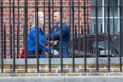 © Licensed to London News Pictures. 11/09/2019. London, UK. Secretary of State for International Trade Elizabeth Truss (l) departs the back of Downing Street.  Photo credit: George Cracknell Wright/LNP