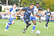 Leeds United midfielder Helder Costa (17) scores a goal to make the score 1-1 during the Pre-Season Friendly match between Guiseley  and Leeds United at Nethermoor Park, Guiseley, United Kingdom on 11 July 2019.