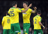 Football - 2017 / 2017 EFL (League) Cup - Fourth Round: Arsenal vs. Norwich City<br /> <br /> German Norwich City players, Timm Klose and Christoph Zimmermann embrace at The Emirates.<br /> <br /> COLORSPORT/ANDREW COWIE