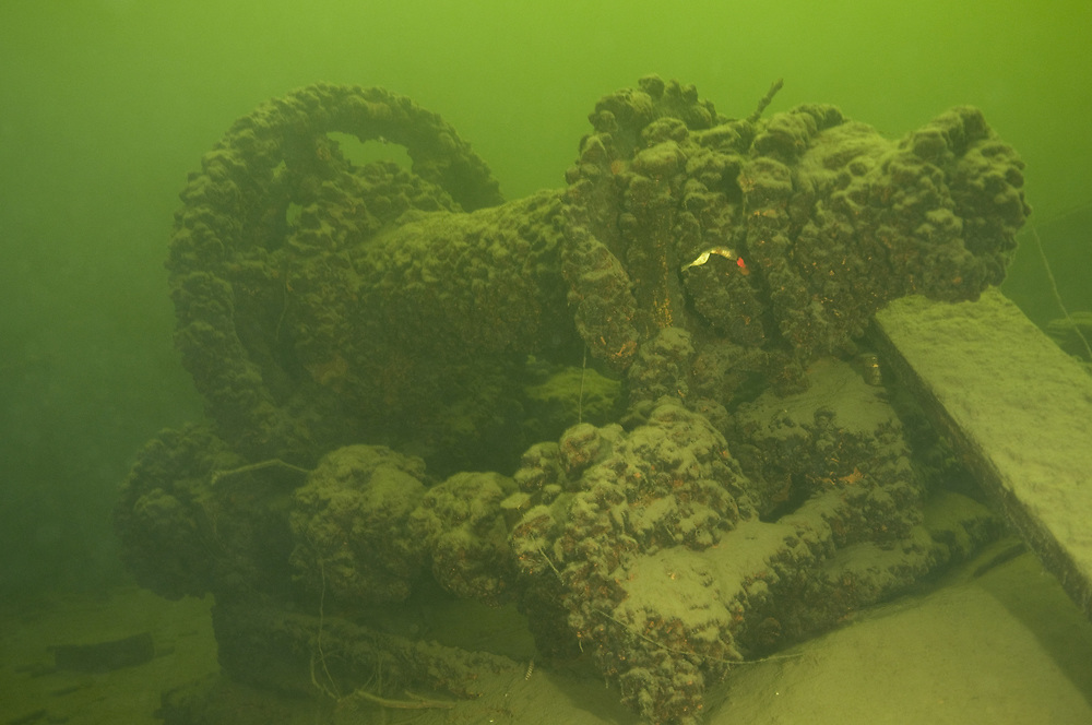 The wreck of Industri II. Location : Lake Mjosa, Norway