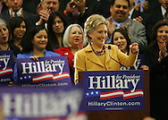 McAllen, TX - 13 Feb 2008 -.Senator Hillary Clinton, D-New York, speaks at a rally on Wednesday morning at the McAllen Convention Center.