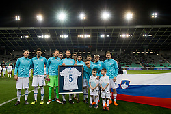 Players of Slovenia during friendly football match between National teams of Slovenia and Belarus, on March 27, 2018 in SRC Stozice, Ljubljana, Slovenia. Photo by Urban Urbanc / Sportida