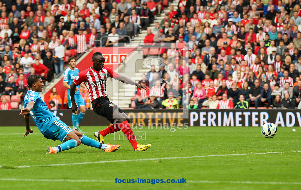 Sadio Man&eacute; (3rd left) of Southampton scores his sides eighth goal during the Barclays Premier League match at the St Mary's Stadium, Southampton<br /> Picture by Tom Smith/Focus Images Ltd 07545141164<br /> 18/10/2014