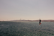 Greece, Paros, kite surf in front of the Antiparos Island