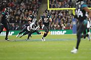 Jacksonville Jaguars Quarterback Gardner Minshew (15) during the International Series match between Jacksonville Jaguars and Houston Texans at Wembley Stadium, London, England on 3 November 2019.