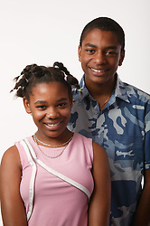 Teenage brother and sister,