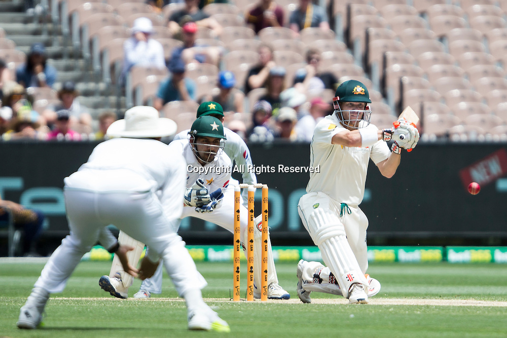 28.12.2016. MCG, Melbourne. Commonwealth Bank Test cricket Series, Australia versus Pakistan Boxing Day test. David Warner batting